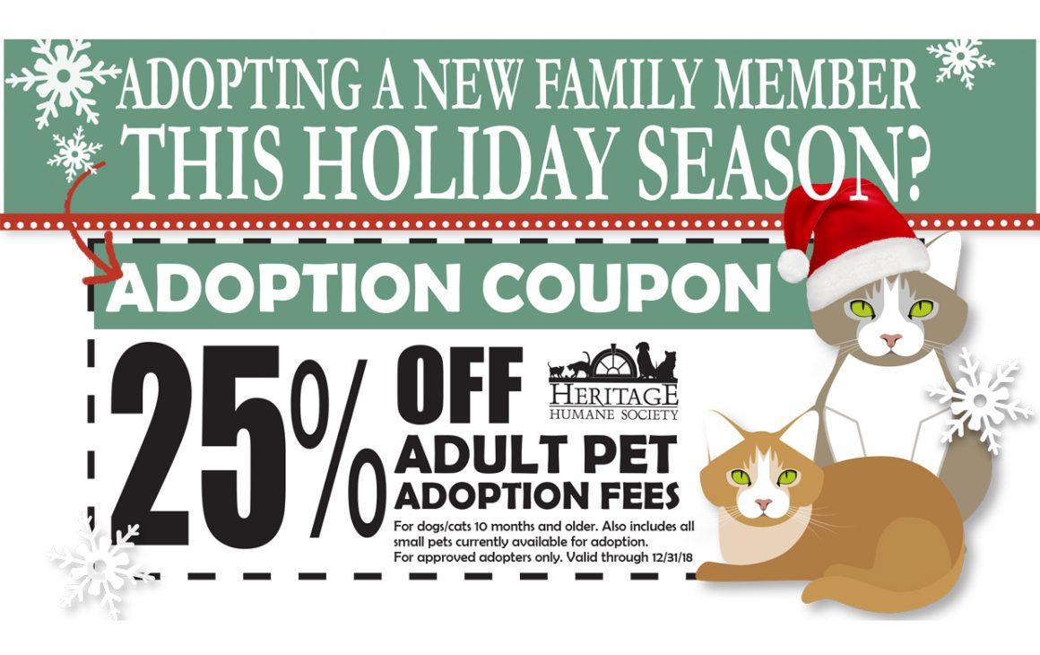 Holiday Adoption Coupon