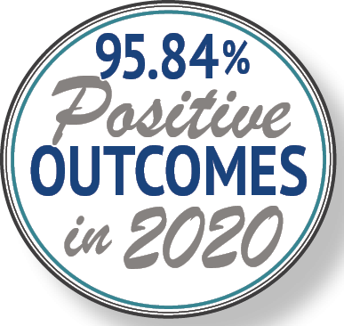 95.84% Positive Outcomes in 2020 – Because of your support!